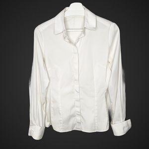 THOMAS PINK White Button Down Blouse Flip Cuffs